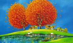 Morning in Summer by Vietnamese Artist Nguyen Minh Son
