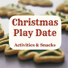 Christmas Play Date Ideas  Please like, comment, and share! :) <3 I'm also on facebook, find me at www.facebook.com/alovingmom29