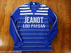 VINTAGE Rare French Adidas 1970s Jeanot Lou Paysan Blue & White RUGBY Shirt Grey Cats, Mode Vintage, Vintage Adidas, Rugby, 1970s, Vintage Outfits, The Past, Blue And White, French