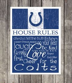 Football season signs go Colts Football Crafts, Football Baby, Football Season, Football Team, Baseball, Colts Cheerleaders, Philadelphia Sports, Fly Eagles Fly, House Rules