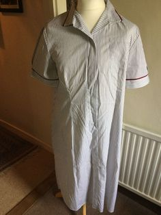 0c15d138bdd Alexandra Striped Healthcare Medical Nurses House Keeping Dress Size 22