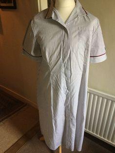 Alexandra Striped Healthcare Medical Nurses House Keeping Uniform Dress