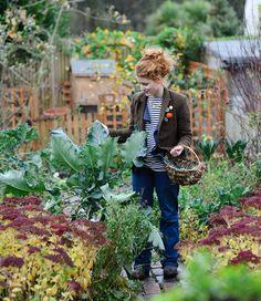 Einfach die Seele baumeln lassen und den Gemüsegarten bearbeiten :-)