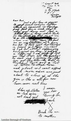 Jack's letter home to his father before the battle of Jutland.