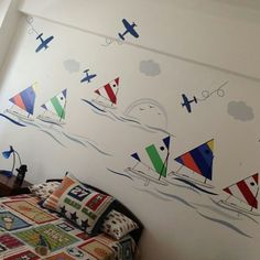 For the bigger ones :) Sail boats wall decal www.tikiti.com.do Make your order now! <3