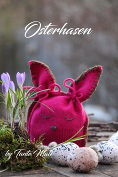Upcycling Osterhase aus altem Pullover