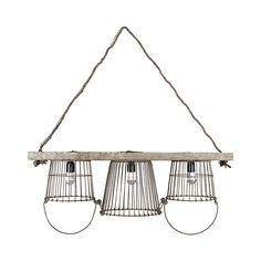 Warm your entryway, dining room, or living room with this charming chandelier. Gorgeously fashioned from metal and wood and delightfully suspended from a rope holder, this Robin Chandelier features thr...  Find the Robin Chandelier, as seen in the Farmhouse Along the Fjords Collection at http://dotandbo.com/collections/farmhouse-along-the-fjords?utm_source=pinterest&utm_medium=organic&db_sku=113519