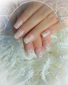 Uñas Fun Nails, Pretty Nails, Nice Nails, Bra Pattern, Pretty Nail Designs, Acrylic Nail Art, Wedding Nails, Jackson, Make Up