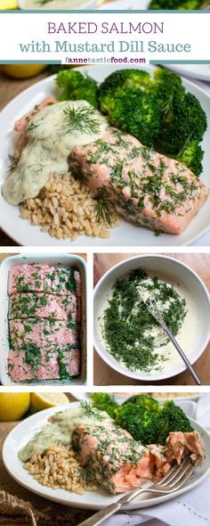 Salmon with Lemon Mustard Dill Sauce - an easy, healthy, and delicious dinner.