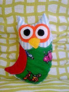 soft owl. size 28cm X 20cm Owls, Christmas Stockings, Cotton Fabric, Holiday Decor, Unique, Handmade, Home Decor, Needlepoint Christmas Stockings, Hand Made