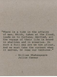 William Shakespeare Quote Made on by FlightOfFancyPrints on Etsy