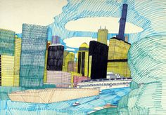 I've previously mentioned Wesley Willis here and, on the five-year anniversary of his passing, it's time to show more of his drawings. Willis was an urban-oriented artist, and skylines,…