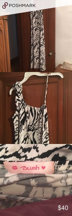 Blush maxi dress Great summer dress.  Black and white is the style right now. Blush Dresses Maxi