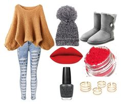 """""""Bella"""" by unachica on Polyvore featuring UGG Australia, OPI, women's clothing, women's fashion, women, female, woman, misses and juniors"""