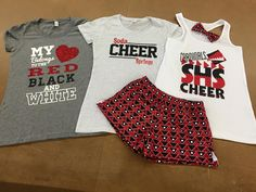 Soda Springs H.S Camp Gear #nycecheer Cheer Practice Outfits, Cheer Outfits, Cheerleading Outfits, Sport Outfits, Cheer Shirts, Team Shirts, Vinyl Shirts, Cheer Camp, Cheer Coaches
