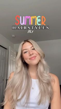 Easy Hairstyles For Long Hair, Summer Hairstyles, Pretty Hairstyles, Girl Hairstyles, Braided Hairstyles, School Hairstyles, Hairdos, Hairstyle Ideas, Band Workout