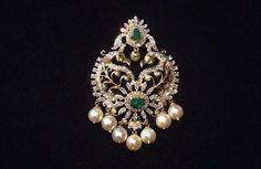 Gold Pendent, Pendant Set, Diamond Pendant, Gold Jewellery Design, Bead Jewellery, Jewelery, Indian Wedding Jewelry, Bridal Jewelry, Emerald Jewelry