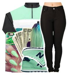 """."" by majiah-boo ❤ liked on Polyvore featuring Casetify and New Balance"
