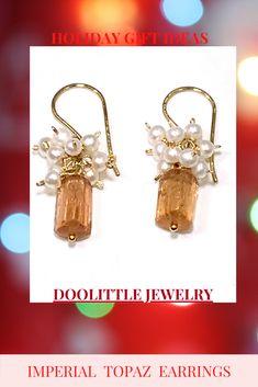 Topaz Jewelry, Topaz Earrings, Dainty Earrings, Cluster Earrings, Earrings Handmade, Women's Earrings, Imperial Topaz, Vip Group, Latest Styles