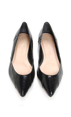 Black Pointed Toe Flat.
