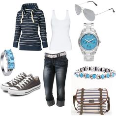 sneakers and capris... great for the mommy on-the-go