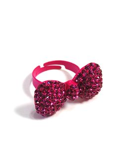 Rhinestone Bow Ring: Pink - $12.99 : Spotted Moth, Chic and sweet clothing and accessories for women