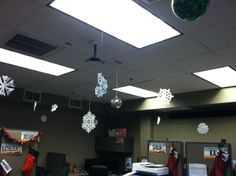 snowing in the office