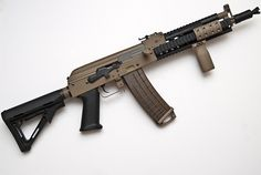 AK-74 Tacmod w/ SBS buttstock; MOE ak-grip; muzzle-booster; magpul magazine; keymod rail-system.