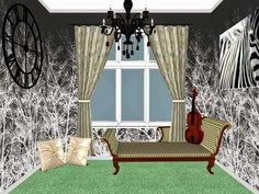 Music-inspired Nook Porch Swing, Outdoor Furniture, Outdoor Decor, Nook, Curtains, Inspired, Interior Design, Music, Inspiration