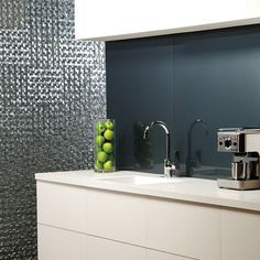 Dark Grey Large Tile Kitchen Splashback Google Search