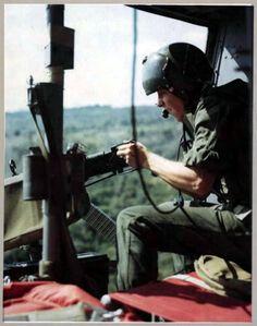 Huey door gunner. ~ Vietnam War