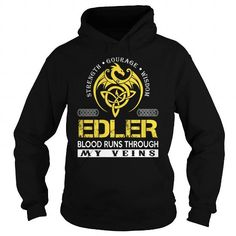Cool EDLER Blood Runs Through My Veins (Dragon) - Last Name, Surname T-Shirt T-Shirts
