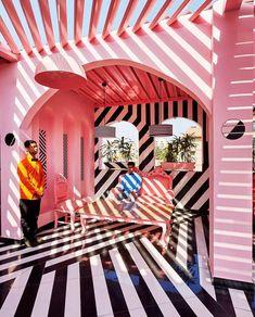 Das rosa Zebra durch Renesa Architecture Design Interiors - home sweet home - Pink Zebra, Architecture Design, Modern Architecture House, India Architecture, Architecture Interiors, Design Online Shop, Store Design, Memphis Design, Colors