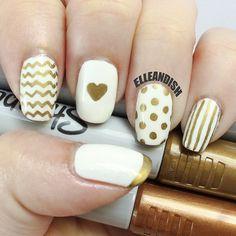 DIY Sharpie Nails | by elleandish
