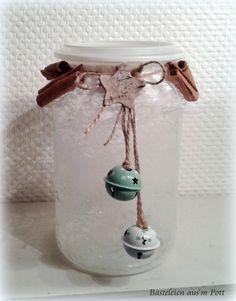 großes Weihnachts Windlicht Einmachglas Shabby von Basteleien aus'm Pott http://de.dawanda.com/shop/vickie2705/3572767-Weihnachten