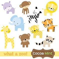 Clip Art Baby Animals Clipart free baby animal clip art paper parties safari zoo animals