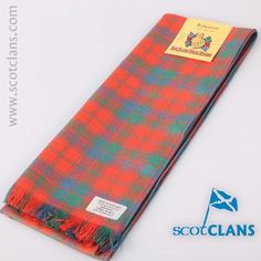 Robertson Ancient Tartan Scarf. Free worldwide shipping available
