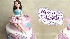 Violetta in pasta di zucchero per torta - Fondant Violetta Disney Cake T...