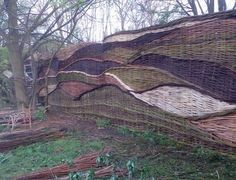 Photo Gallery of Willow Woven Fences by Fences and Willow Hedges.