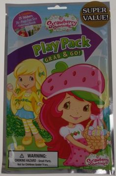 Lot 12 Strawberry Shortcake Play Pack Grab & Go Coloring Book Crayons Stickers