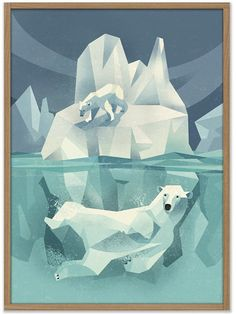 Swimming Polar Bear Poster by Dieter Braun