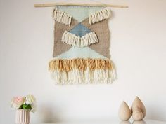 Big Woven Wall Hanging, Modern handwoven tapestry in pastel/Weaving/Fiber Art/Textile Wall Art/ Woven Home Decor/Scandinavian home decor