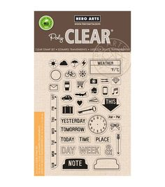 Beautify your scrapbook pages, greeting cards, gift tags, plain envelopes and much more using the Hero Arts Clear Stamps. This pack contains 39 clear stamps that are latex-free, phthalate-free, non-to