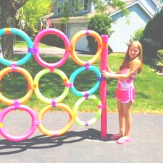 Made out of pool noodles! Sponge or water balloon toss?