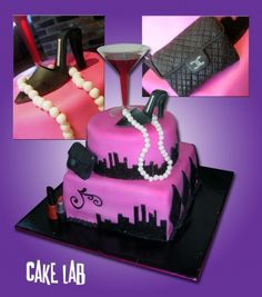 Sex and the City themed bridal shower cake By zaco on CakeCentral.com