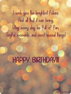 Birthday Poem For Friend, Happy Birthday Nephew, Happy Birthday Best Friend Quotes, Birthday Poems, Birthday Wishes For Myself, Funny Birthday Message, Birthday Msgs, Best Happy Birthday Quotes, Birthday Prayer