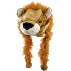 Critter Caps Plush Lion Pilot Hat W/ Built-In Ear Warmers ($25) ❤ liked on Polyvore featuring accessories, hats, harry potter, caps hats and lion hat