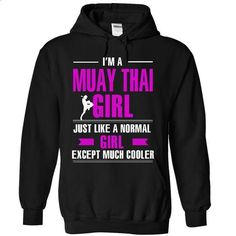 Cool Muay Thai girl - #workout tee #matching hoodie. I WANT THIS => https://www.sunfrog.com/LifeStyle/Cool-Muay-Thai-girl-9084-Black-8810081-Hoodie.html?68278