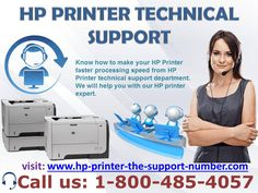 .  Printer being one of the most widely used devices in home and office environment both allows users to print documents and photos among other things quickly. Printers range from the conventional black & white (B&W) printers to colour printers and from wired to wireless printers to suit different types of printing requirements.  So, whether you are a business professional, or a big media house etc. call us 1-800-485-4057 & Visit: http://www.hp-printer-tech-support-number.com