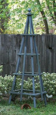 Sew Whats Next: Tuteur - possible use in the garden - next to pool fence if i could make one without any horizontal bars